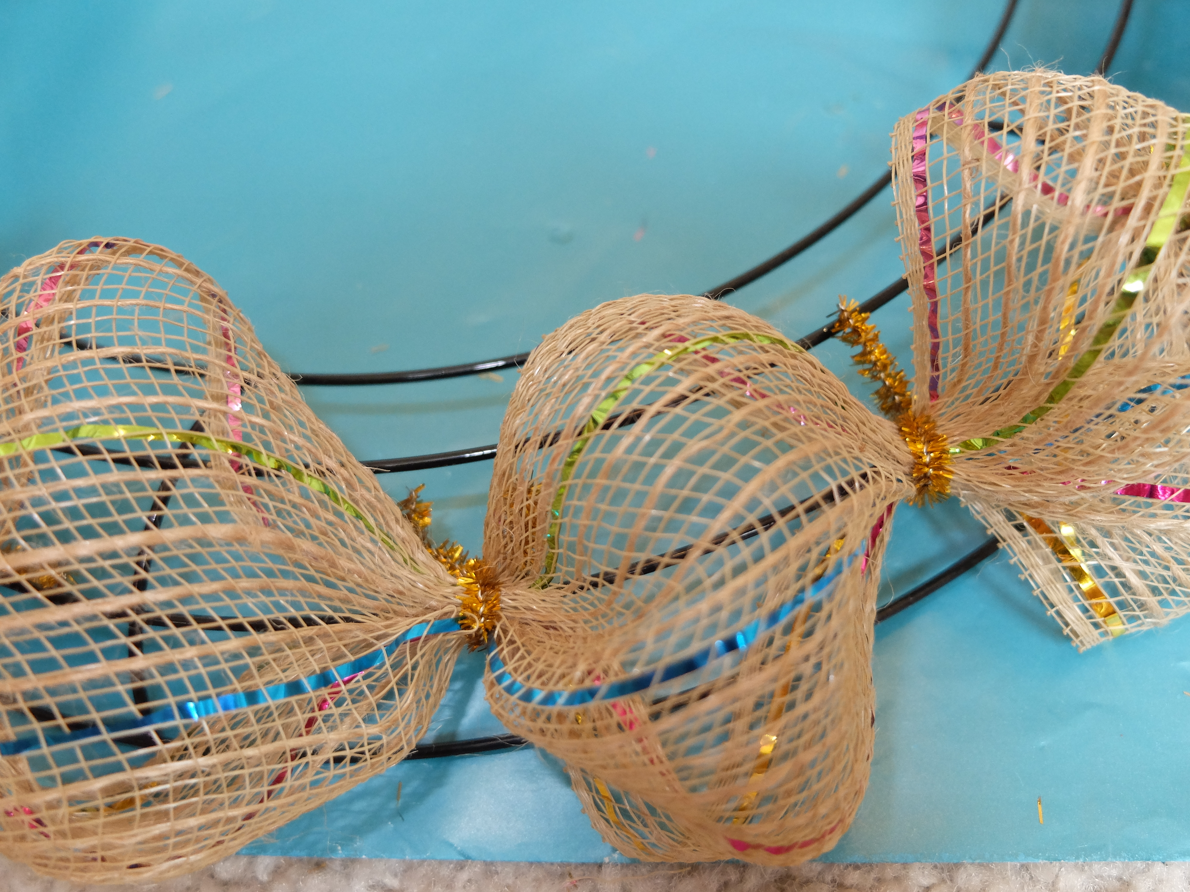 Easter mesh wreath diy from dollar tree finds - Easter Mesh Wreath Diy From Dollar Tree Finds