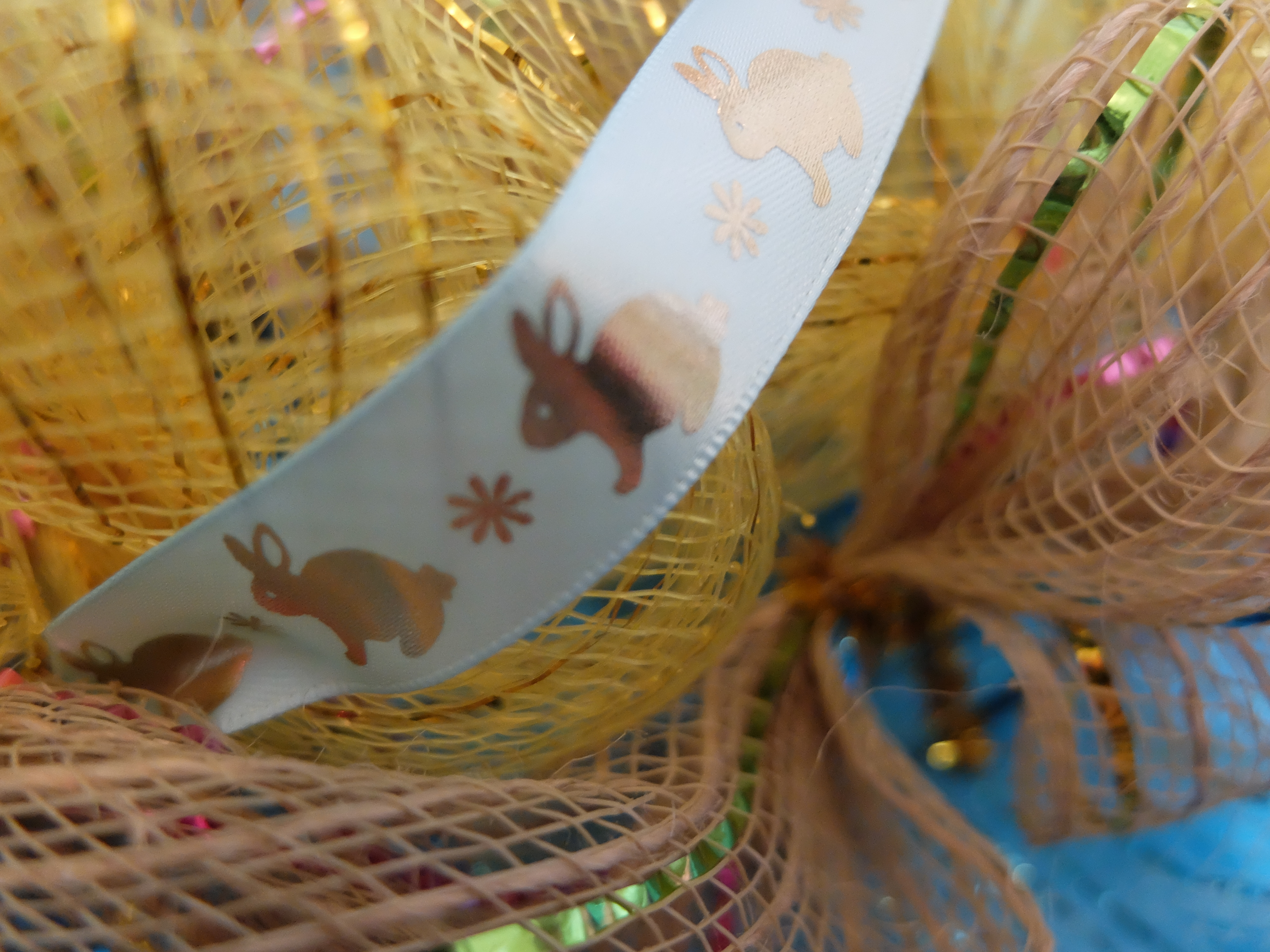 Easter Mesh Wreath DIY from Dollar Tree Finds